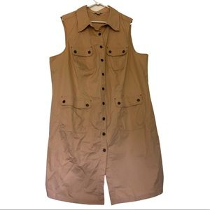 Spanner Khaki Industrial Shift Dress Sz 22 Plus
